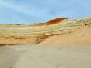 Carbonate et couche fossilifère à dents de requin (ocre) - Dakhla