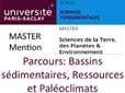 Master Bassins Sédimentaires, Ressources et Paléoclimats